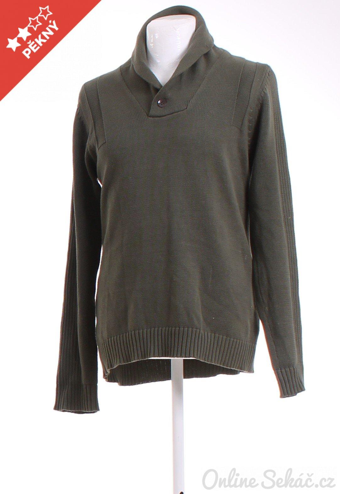 Second hand - Vzor  JEDNOBAREVNÝ   Pánský zimní svetr JEANS CLOTHES ... 83b8dcd1d8