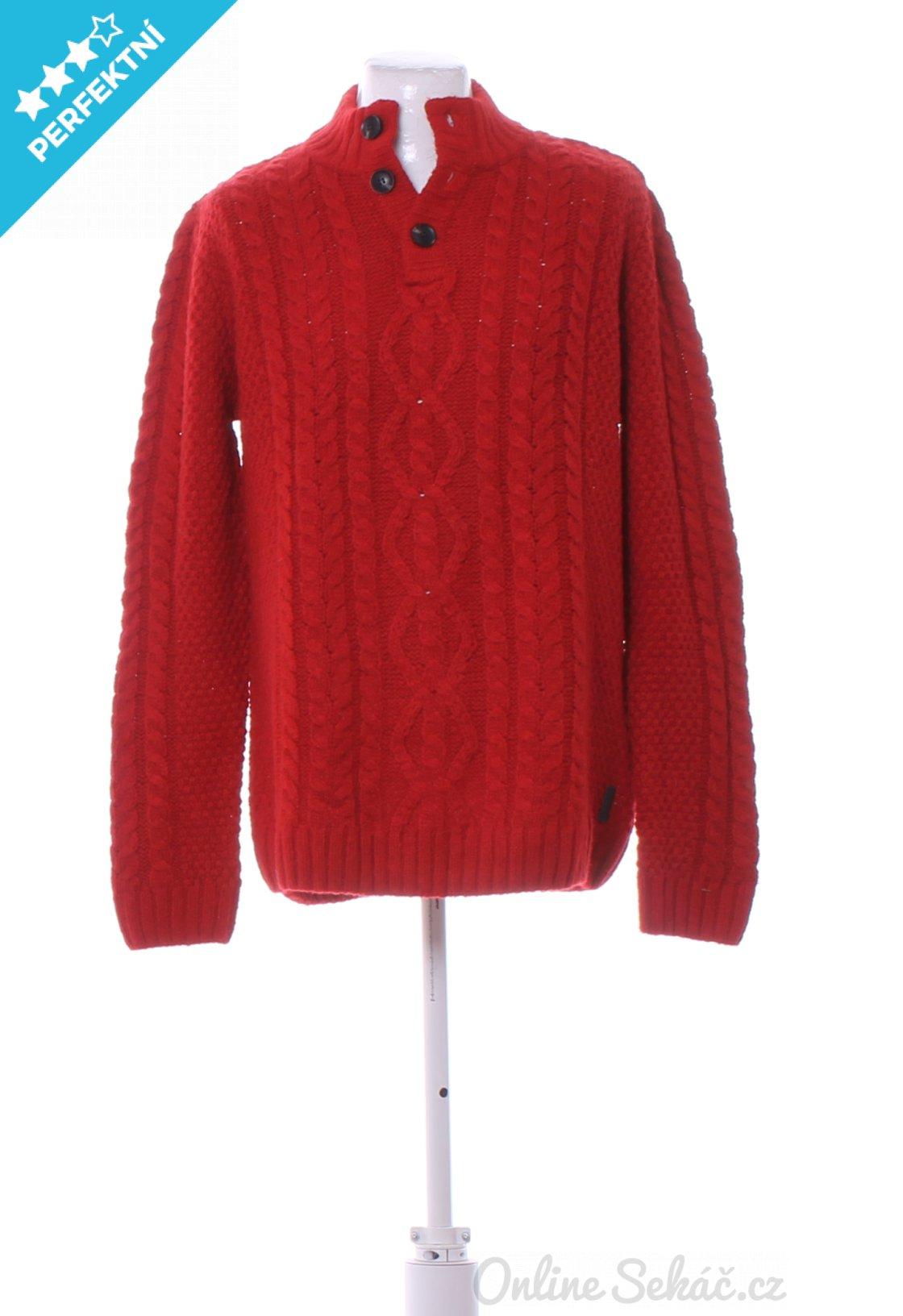 Second hand - Vzor  JEDNOBAREVNÝ   Pánský zimní svetr BRICE XL ... f27f0c6eb2
