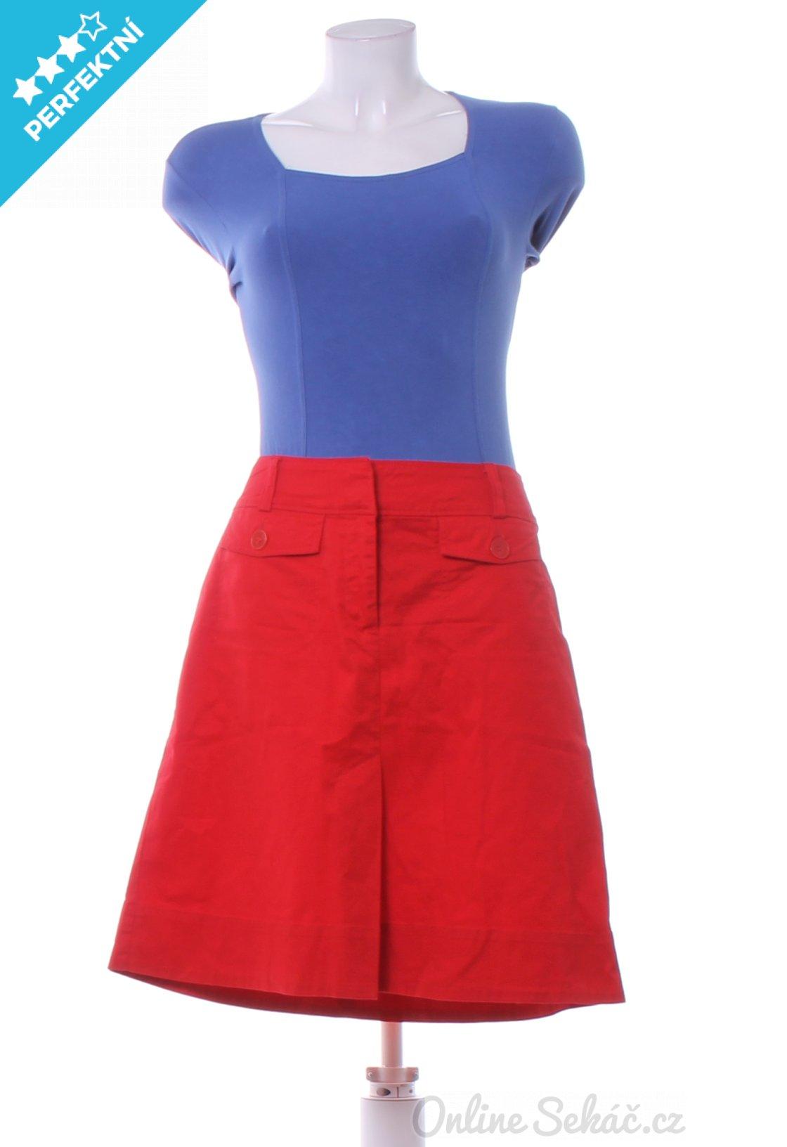 65b44676866 Second hand - Vzor  JEDNOBAREVNÝ   Dámská sukně ke kolenům H M M ...