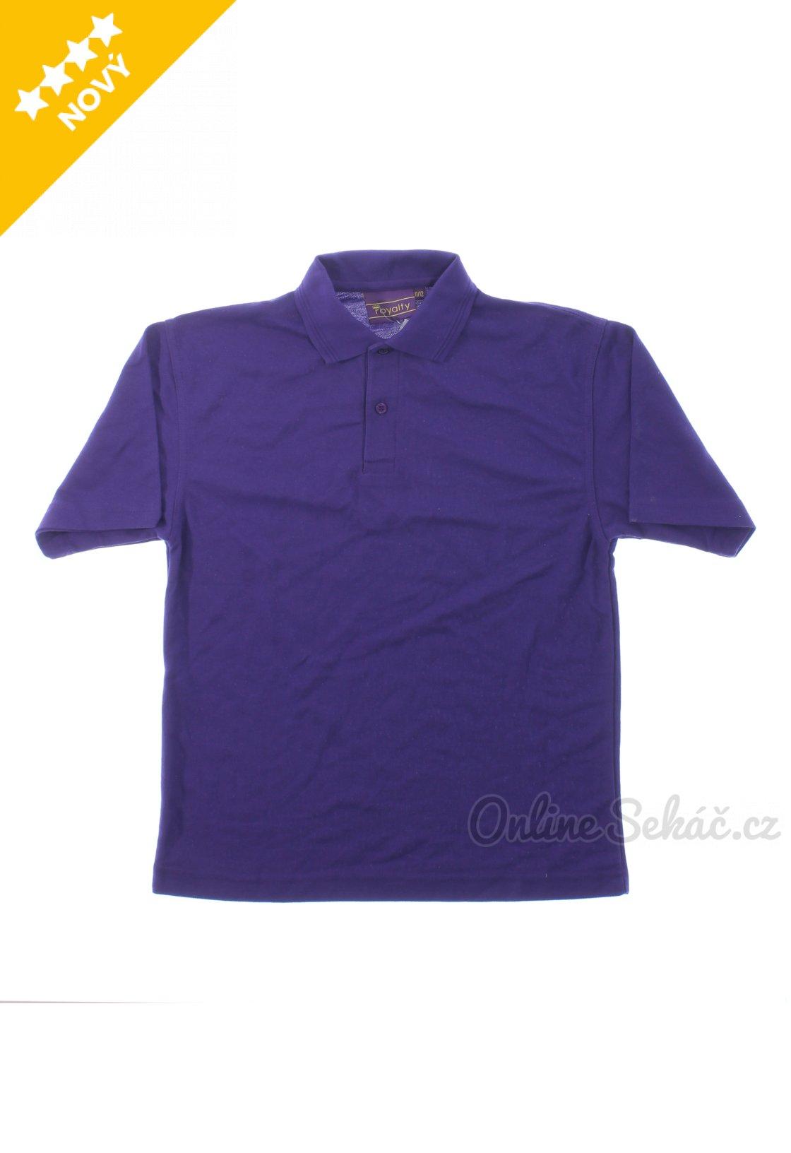 34c3ba7d085 Dětské tričko s límečkem ROYALTY nový 146