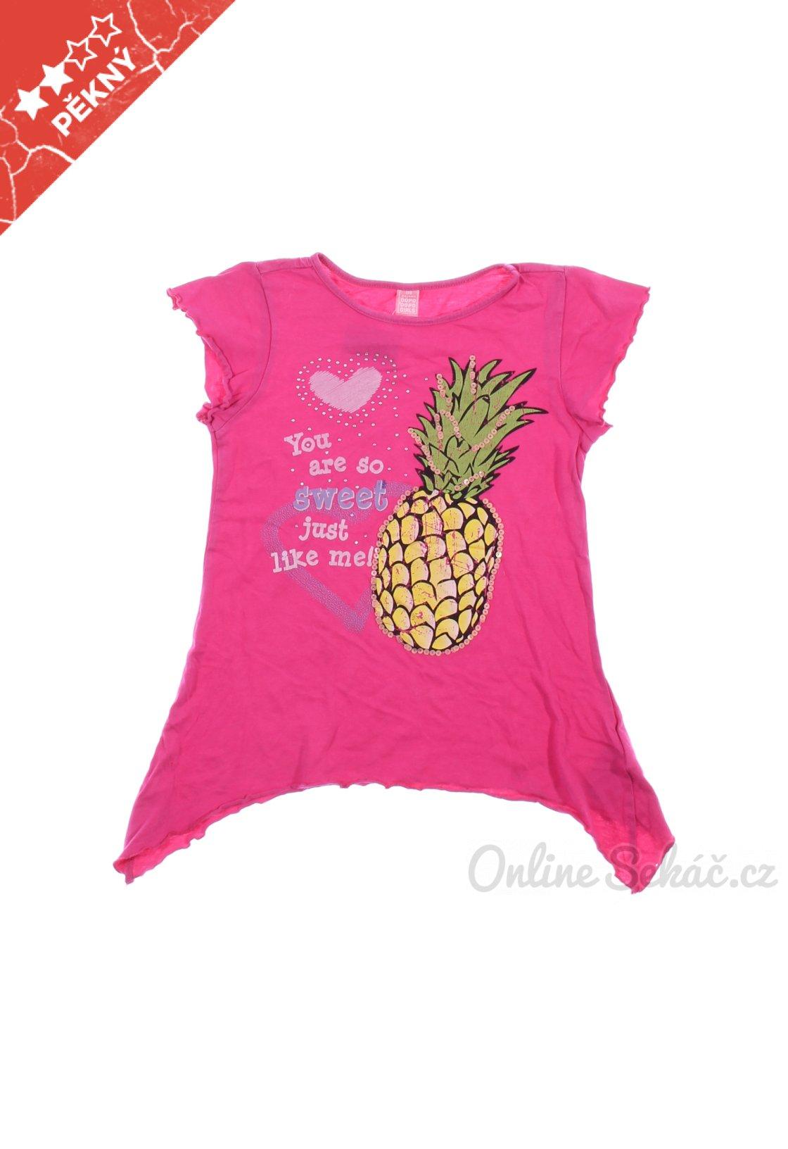 ce5a2ad7a Dětské tričko s potiskem DOPODOPO GIRLS 128, růžová #18240085652598