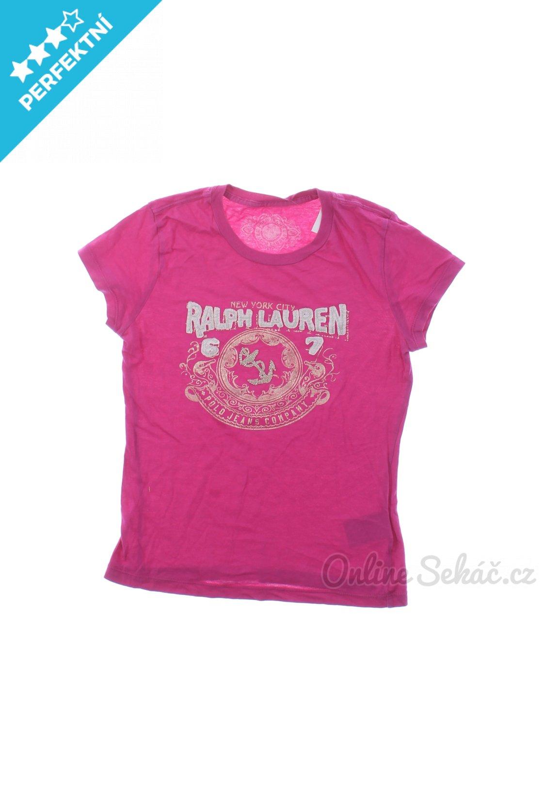 a8e7bc03c5e Second hand RALPH LAUREN   Dětské tričko s potiskem RALPH LAUREN 140 ...