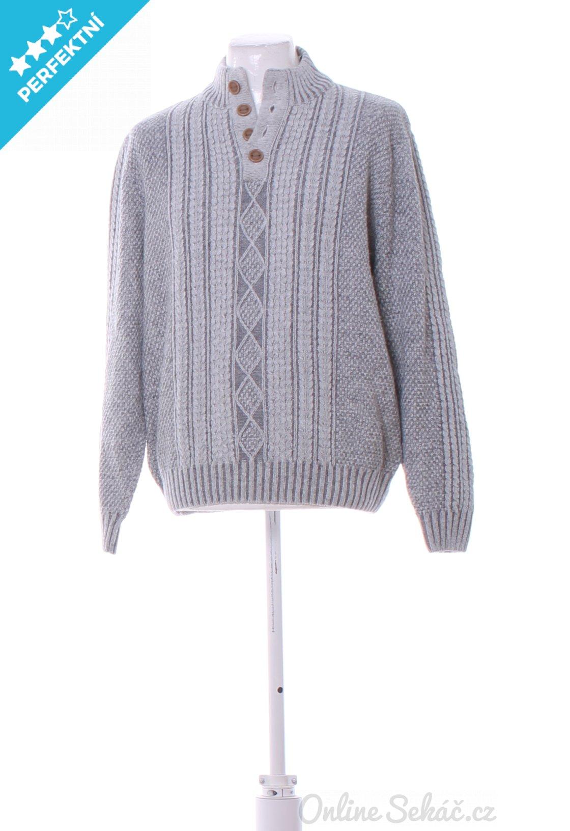 Second hand - Vzor  JEDNOBAREVNÝ   Pánský zimní svetr BABISTA XL ... 954ab908f5