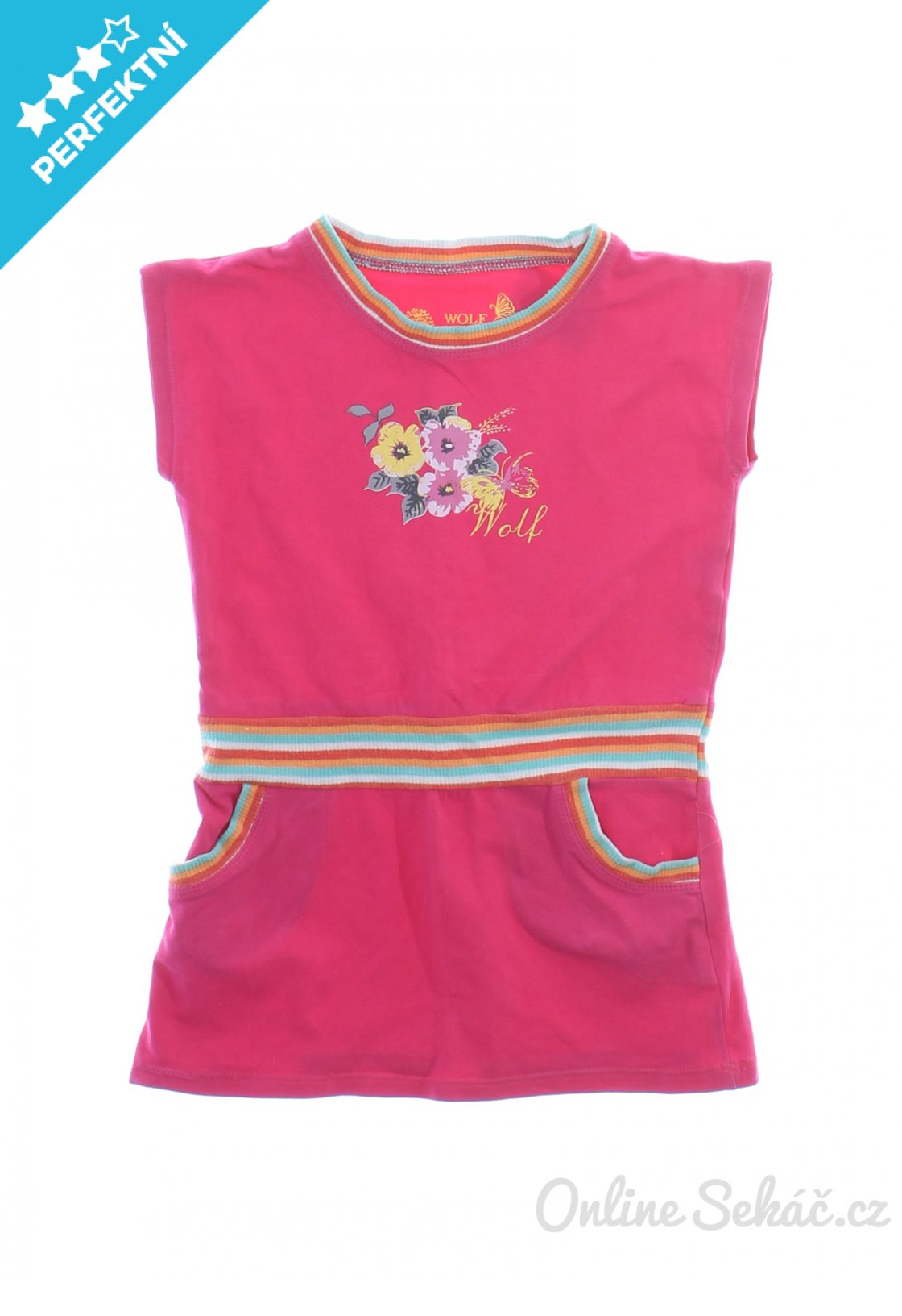 Dětské šaty se zdobením WOLF 104 08d785ce39
