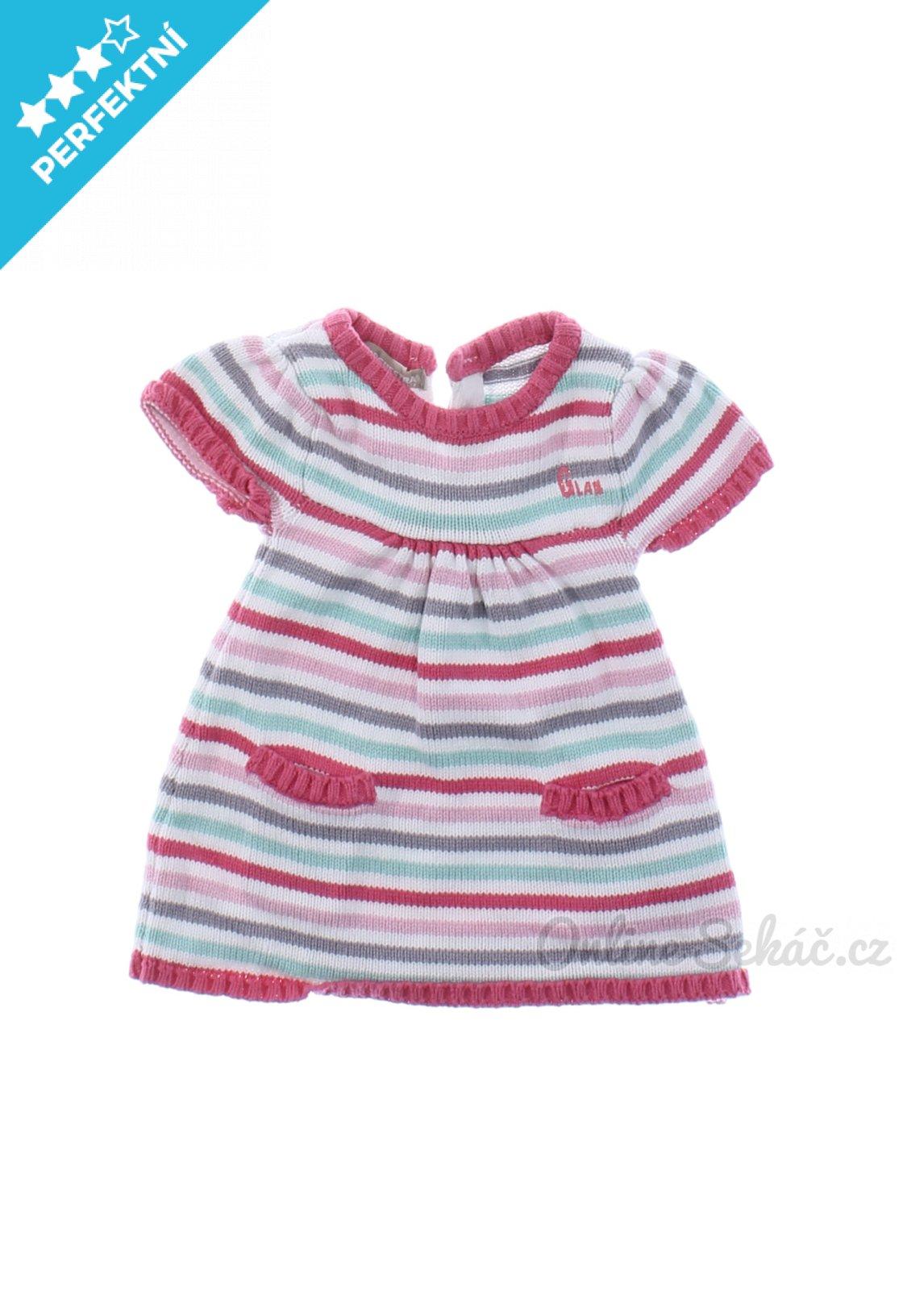 d4adf463a815 Kojenecké úpletové šaty ORCHESTRA 68